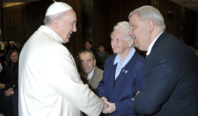 Chris Beirne Meeting Pope Francis