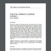 What Is A Roman Catholic School