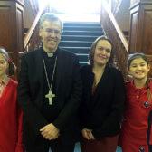 Bishop Hudson at St Marys